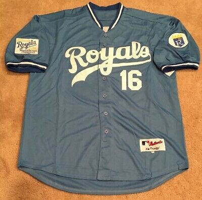 pretty nice 5de9e d51e0 BO JACKSON KANSAS City Royals Retro Throwback Jersey Mens XXL NEW 1985 WS  patch