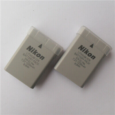 2PCS EN-EL14a Genuine Battery Nikon Coolpix P7000 P7100 D5000 D3100 D5100 D3200