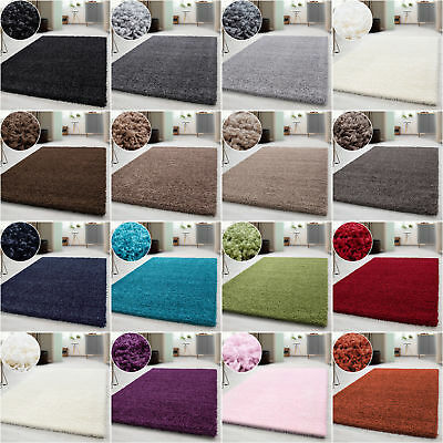 Modern Soft Shaggy Rugs Carpet Thick Pile Rectangle Round Living Room Bedroom