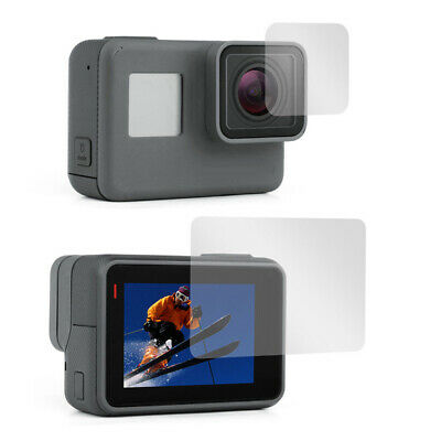 For GoPro HERO 7 6 5 Black Protective Lens Cover Case Screen Protector Film 2pc