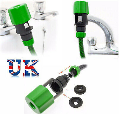 Universal Tap To Garden Hose Pipe Connector Mixer Kitchen Tap Adapter Fitting UK