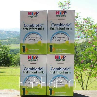 4 Boxes HIPP Organic Combiotic First Infant Milk - Stage 1 Free Shipping