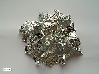 5 grams of silver leaf flakes craft, gold & copper leaf flakes also in shop