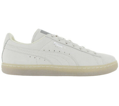 150f3fea2e Puma Suede Classic Mono Ref Iced Baskets / Chaussures Homme Cuir Blanc-Gris