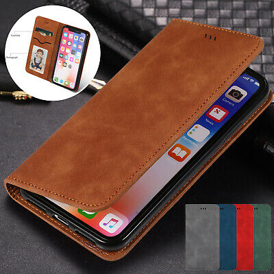 For iPhone 6s 7 8 Plus XS Max XR Case Luxury Magnetic Leather Wallet Flip Cover