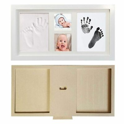 Children Baby Kid Foot Hand Finger Wood Photo Frame Set Print Clay Ink Kit Gifts