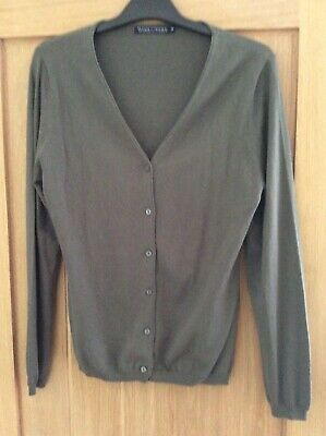 NEW LADIES CARDIGAN Knitwear Buttons Size M L Top Tops