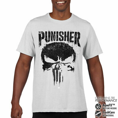 Sous Licence Marvel's The Punisher Big Crâne Performance Homme T-SHIRT S-XXL