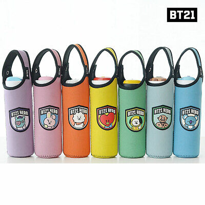 BTS BT21 Official Authentic Goods Bottle Pouch 7Characters + Tracking Number