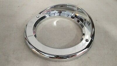 "(Lot of 4) Stop Signal light bezel 4"" Round visor chrome Covers for Kenworth"