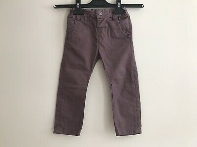 Next Baby Boys Toddler Burgundy Trausers Size 12-18 Months 100% Cotton