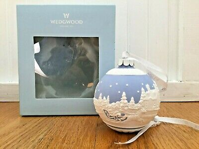 "Wedgewood ""Sleigh Ride"" Christmas Ornament Ball Ceramic Decoration ..."