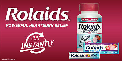 Rolaids Extra Strength and Advanced Antacid, Heartburn plus Anti-Gas