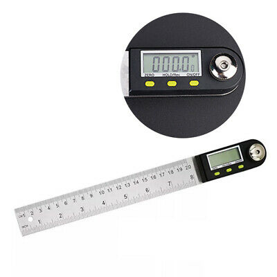 Digital Angle Finder LCD Ruler Folding Protractor Goniometer 0-360° Gauge Q7F0U