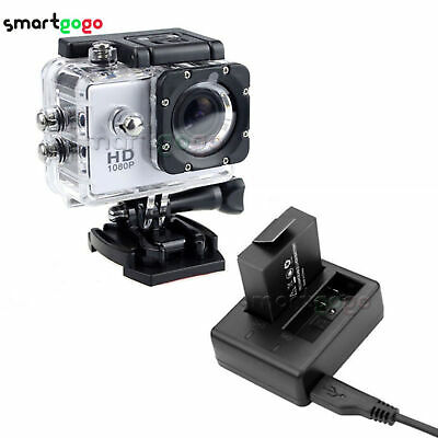 PG1050 Rechargeable Dual Battery&Charger Eken V8s H8 H9 H8R H9R Sport Camera BSG