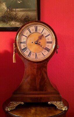 Beautiful, Huge , English double fusee balloon bracket clock. Regulateur.