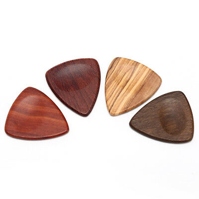1pc Wood Acoustic Guitar Pick Plectrum Hearted Shape Picks For Bass Guitar VU