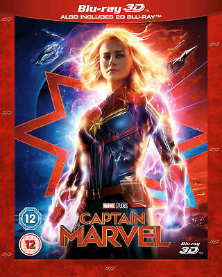 CAPTAIN MARVEL 3D + 2D Blu-ray - PRE-ORDER SHIPS BY 7/24 - Ships from US