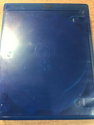 2 Empty NEW  blue Blu-Ray 4 inlain tray Cases 23mm Elite for 8 discs
