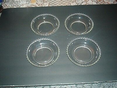 Imperial Glass Candlewick ***Clear 6 Inch Cereal/Soup Bowl **Set 4