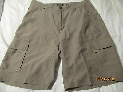 1c8c8a6a71 MAGELLAN OUTDOORS MENS Polyester Taupe Cargo Shorts= 32 - $6.50 ...