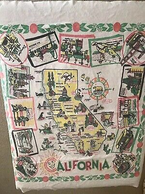 Vintage California Table Cloth