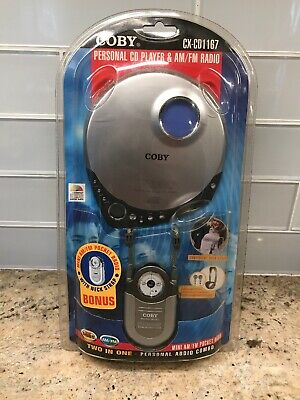 Coby CX-CD1167 CD Player & AM/FM Radio NEW NIB Sealed