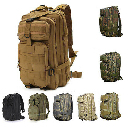 600D Nylon Tactical Backpack Camping Military Outdoor Sport Waterproof Bag 30L