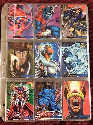 Collectibles Humor Marvel Flair Annual 1995 Fleer Near Complete Base Card Set
