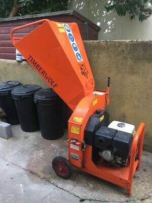 TIMBERWOLF TW13/75G HONDA PETROL GRAVITY FED WOOD CHIPPER. Good Condition