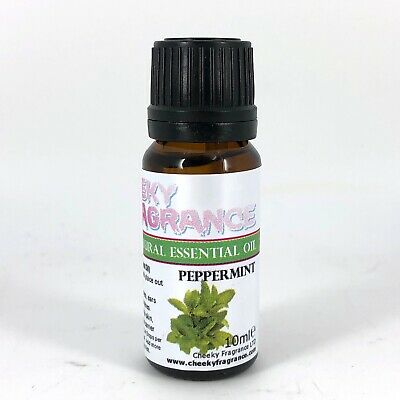 Pure & Natural PEPPERMINT Essential Oil 10ml by Cheeky Fragrance