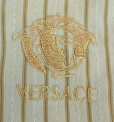 eb1fb598 Rare Vintage Versace Jeans Couture Men's Polo Shirt Gray Black Medusa Head  Logo.
