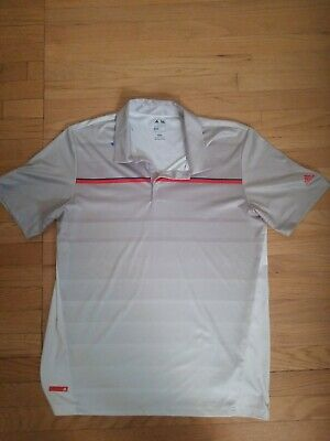 Adidas Puremotion Cool Max Golf Polo Shirt Stretch Men's Large CoolMax