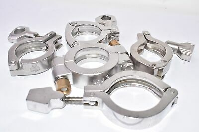 Lot of Sanitary, Stainless Steel  Clover Clamps