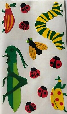 Mrs Grossman/'s BUGS Grasshopper Ladybugs Fly Insects Scrapbook Stickers 3 Strips