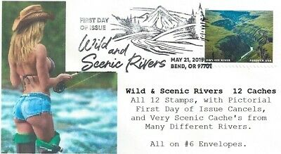 Wild and Scenic Rivers FDoI Set of 12 Women Fishing Forever Caches