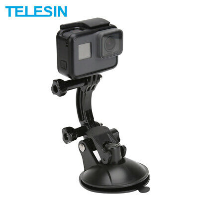 TELESIN Car Suction Cup Adapter Mount Tripod for GoPro Hero 7 6 5 4 3 2 SJCAM