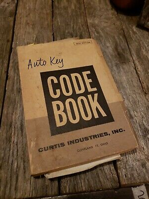 Vintage Curtis Industries Auto Key Code Book - 19th edition