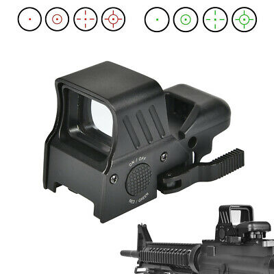 Tactical Red Green Dot Sight 4 Reticles Scope w/ Quick Detach Mount 20mm Rail