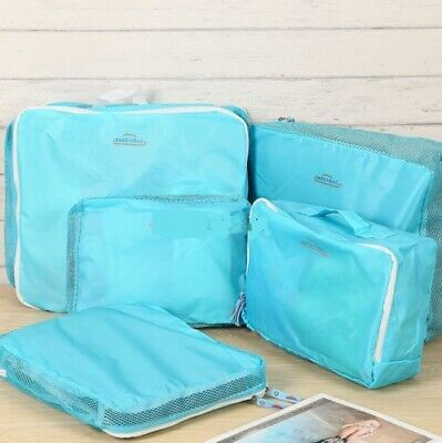 5pcs Packing Cube Pouch Suitcase Clothes Storage Travel Bags Luggage Organiser