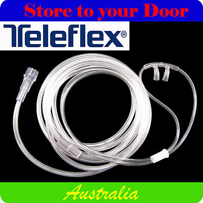 TELEFLEX NASAL OXYGEN CANNULA ADULT 1 2 3 4 5 10 x SOFT NOSE PRONGS - MEDICAL
