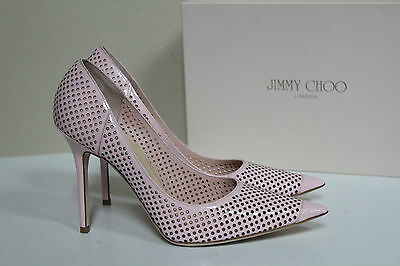 cb3e819a88 New sz 10 / 40 Jimmy Choo Abel Perforated Pink Patent Leather Classic Pump  Shoes