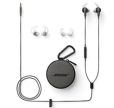 Bose SoundSport Wired In-Ear Headphones - Apple Devices Charcoal Black (3.5mm)