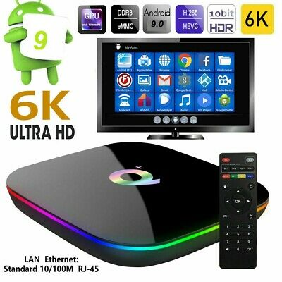 Smart Tv Box Q Plus Android 9.0 4Gb Ram 64Gb 6K Wifi Hdmi Smart Tv Box Netflix