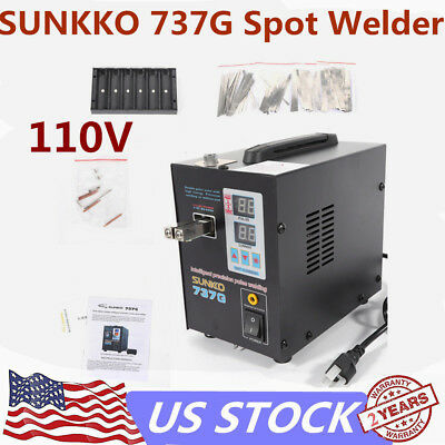 AC 110V Handheld SUNKKO 737G Battery Spot Welder with Pulse Current Display 800A