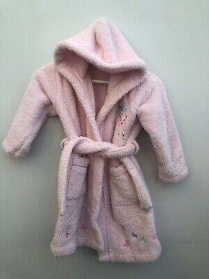 Girls John Lewis Dressing Gown Age 5 Years Pink Fairy & Butterfly Design <MM178