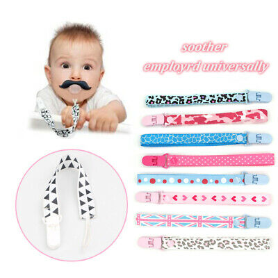 Dummy Clip Baby Soother Clips Teething Baby Kids Chain Holder Pacifier Strap New