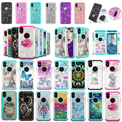 For iPhone 6s 8 Plus X XR Xs Max Pattern Case Ultra Hybrid Shockproof Hard Cover