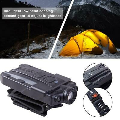 USB Rechargeable 3LED Clip-on Cap Hat Head Light Torch Camping Fishing Headlamp