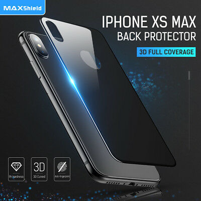 Maxshield Back Rear Tempered Glass Screen Protector Apple iPhone X XS XS Max XR